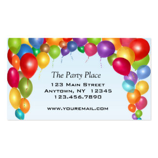 Colorful Balloon Arch Pack Of Standard Business Cards