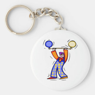 Colorful Balloon Exercise Clown Key Ring