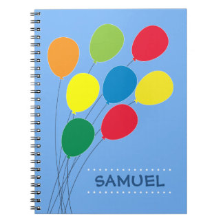 Colorful Balloon Grouping Personalized Boys Notebooks