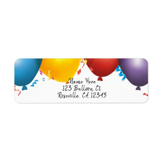 Colorful Balloons & Confetti Birthday Party