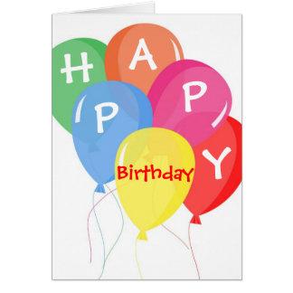 Colorful Balloons Custom Birthday Card