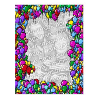 Colorful Balloons Photo Postcard