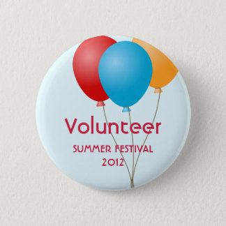 Colorful balloons summer outdoor event custom 6 cm round badge