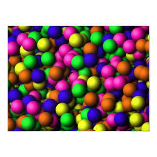 Colorful balls custom announcement