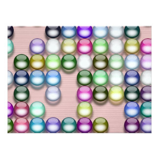 Colorful balls personalized announcement