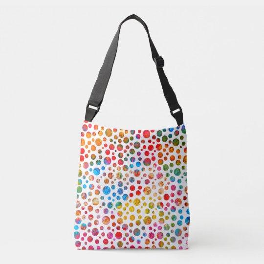 Colorful Balls Jolly Pattern. Polka Dots Design Crossbody
