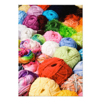 Colorful Balls of Yarn Personalized Invite