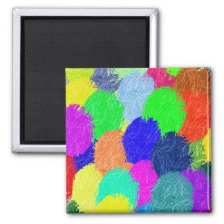 Colorful Balls Square Magnet
