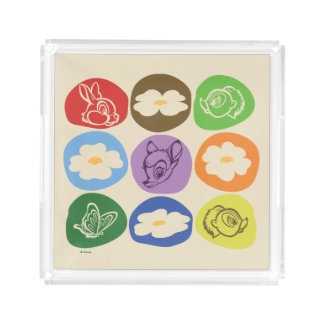 Colorful Bambi, Flower, & Thumper Acrylic Tray