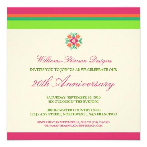 Colorful Bands Corporate Event Invitation (fuchsia