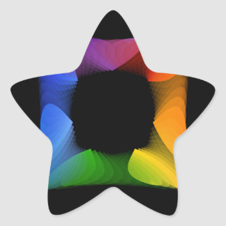 Colorful banner star sticker