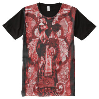Colorful Baphomet Blood Ritual All-Over Print T-Shirt