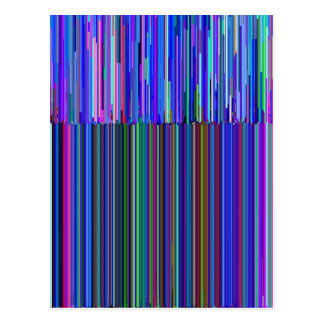 "Colorful ""barcode"" , made from blue stripes post card"