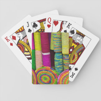 Colorful Baskets At Market Playing Cards