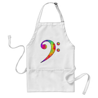 Colorful Bass Clef Standard Apron