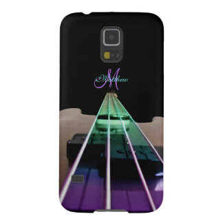 Colorful Bass Guitar Personalized Galaxy S5 Case