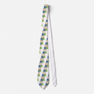 Colorful Bass Guitars Tie