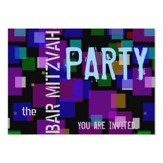 Colorful Bat Mitzvah Bar Mitzvah party 11 Cm X 16 Cm Invitation Card