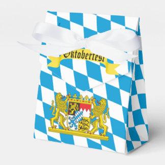 Colorful Bavarian Flag Oktoberfest Party Favour Box