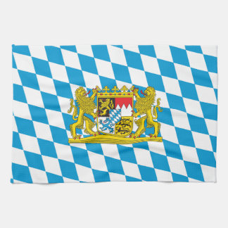 Colorful Bavarian Flag Tea Towel