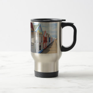 Colorful Beach Huts Stainless Steel Travel Mug