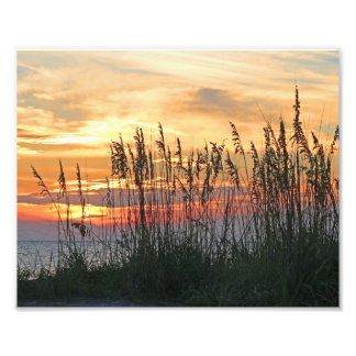 Colorful Beach Sunset Photo Print