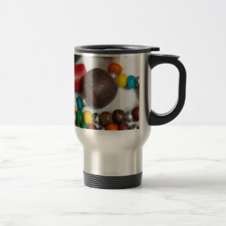 Colorful beads in chains mugs