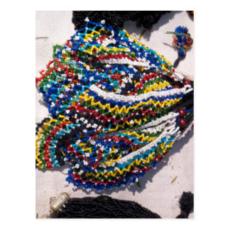 Colorful beads post cards