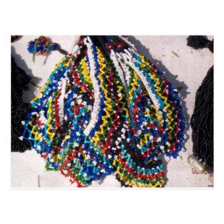 Colorful beads postcard