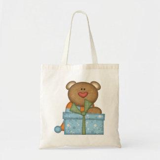 Colorful Bear & Present - Boys or Girls Gift Bag