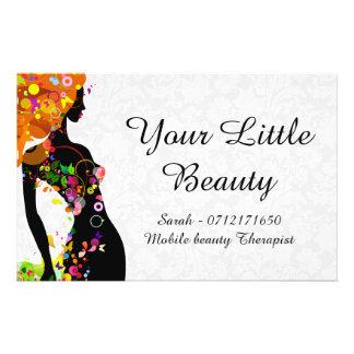 Colorful Beauty Girl 14 Cm X 21.5 Cm Flyer