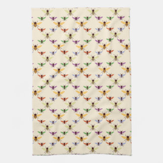 Colorful Bees Tea Towel