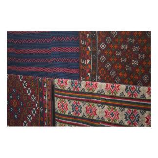 Colorful Bhutan Textiles Wood Wall Decor