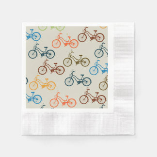 Colorful Bicycle Pattern Disposable Napkins