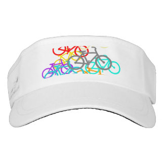 Colorful Bicycles Design Visor