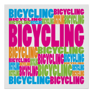 Colorful Bicycling Print