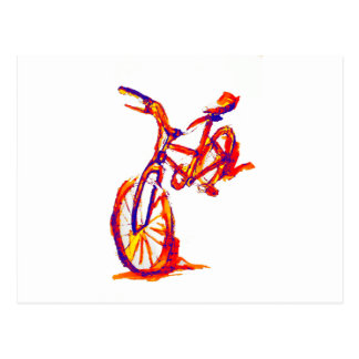 Colorful Bike Designs Postcard