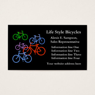 Colorful Bikes Bicycle Business Template Business Card