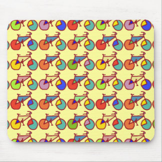 colorful bikes pattern mouse mat