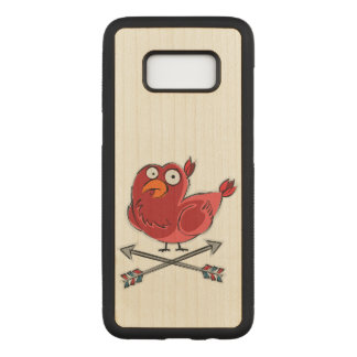 Colorful Bird Carved Samsung Galaxy S8 Case