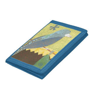 Colorful Bird on a Wire Tri-fold Wallet