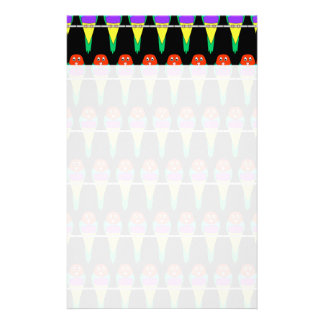 Colorful Bird Pattern. Gouldian Finch. Stationery