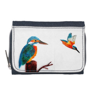Colorful Bird Wallet Kingfishers