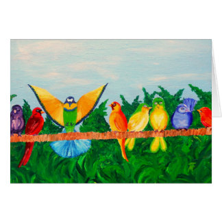 Colorful Birds Card