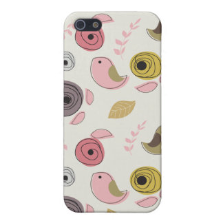 Colorful Birds Pink Green Chicks Girly Case For The iPhone 5