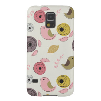 Colorful Birds Pink Green Chicks Girly Galaxy S5 Cover