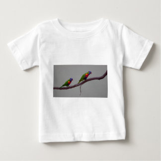 Colorful Birds Walking on a Branch Photo T Shirts