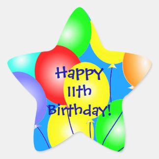 Colorful Birthday Balloons Star Sticker