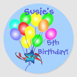 Colorful Birthday Balloons Stickers Stickers
