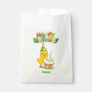 Colorful Birthday Chicken Cartoon Favour Bags